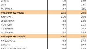 Bezrobocie w Polsce w styczniu 2013 r. woj. PODKARPACKIE
