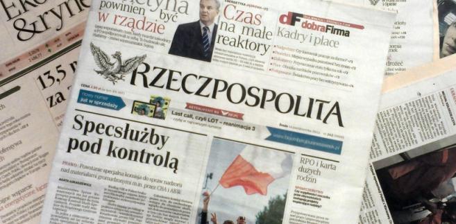 """Okładki dziennika """"Rzeczpospolita"""". Fot. Forsal.pl"""