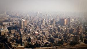 Widok na Kair z siedziby Narodowego Banku Egiptu