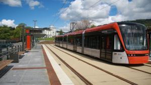 Linia tramwajowa budowana przez Torpol w Bergen w Norwegii