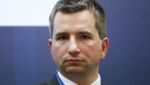 Minister finansów Mateusz Szczurek podczas spotkania w Instytucie Finansów Międzynarodowych (IIF) w Londynie, 5.06.2014 (1)