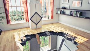 Mieszkanie, dziura w podłodze