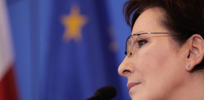 Premier Ewa Kopacz podczas konferencji prasowej 7.01.2015