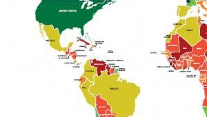 Ocena ryzyka krajów Coface - Ameryka Północna i Południowa