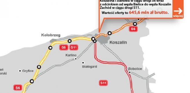 S6 - obwodnica Koszalina i Sianowa w ciągu drogi S6