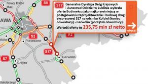 S17 - odcinek Kołbiel (koniec obwodnicy) - Garwolin (początek obwodnicy)