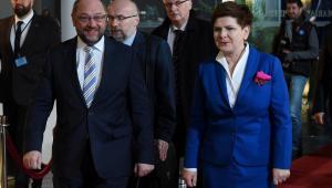 Premier RP Beata Szydło i przewodniczący Parlamentu Europejskiego Martin Schulz