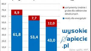 Węgiel - wydobycie w Polsce w 2015 roku