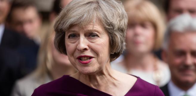 Szefowa brytyjskiego MSW Theresa May w czasie przemówienia dla mediów po głosowaniu w łonie Partii Konserwatywnej, Londyn, 7.07.2016