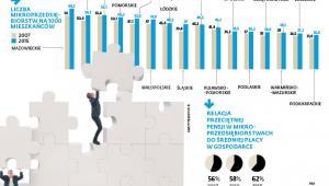 Mikroprzedsiębiorstwa - liczba na 1000 mieszkańców