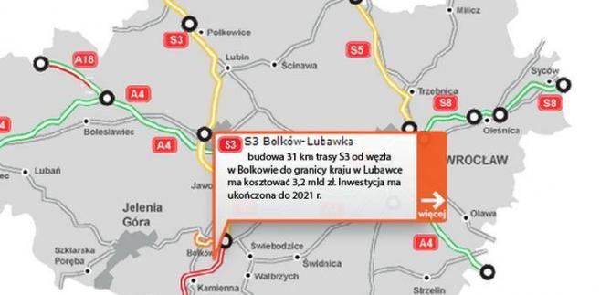 S3 - Bolków - Lubawka