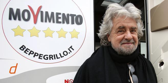 Beppe Grillo, lider Ruchu Pięciu Gwiazd. Trento, Włochy, 11.02.2013.