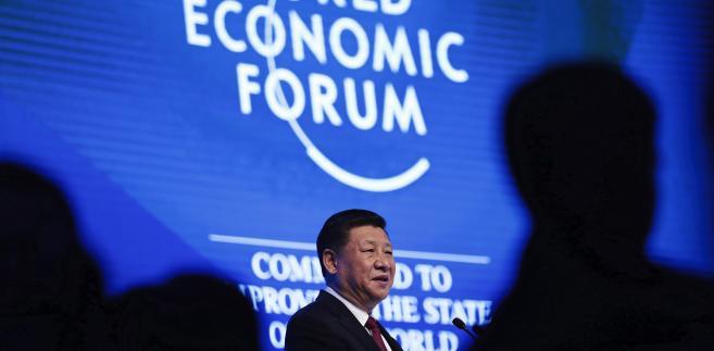 Prezydent Chin Xi Jinping w czasie Forum Ekonomicznego w Davos. 17.01.2017