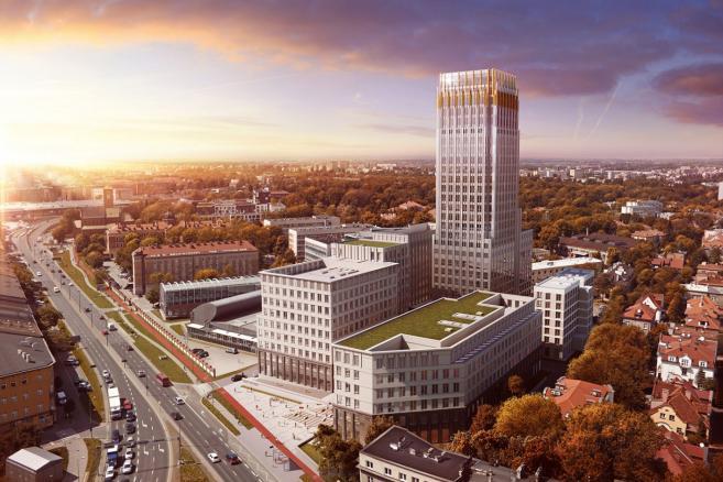 Wizualizacja Unity Tower w Krakowie. Źródło: Materiały prasowe Unity Centre