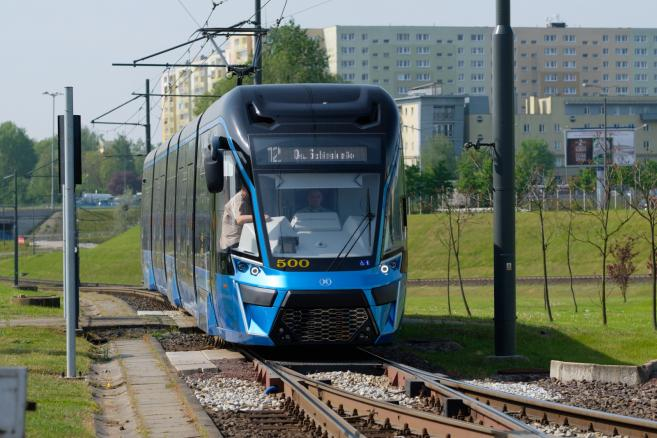 Prototypowy tramwaj Moderus Gamma  fot. (jk/cat) PAP/Jakub Kaczmarczyk
