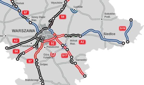 Stan budowy dróg w woj. mazowieckim. Źródło: GDDKiA