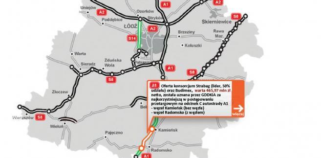 A1 - odcinek Kamieńsk - Radomsko