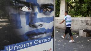 Grecja:  plakat przedwyborczy