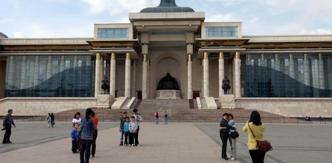 Budynek parlamentu w Ułan Bator, Mongolia