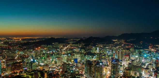 Korea Południowa, Seul nocą