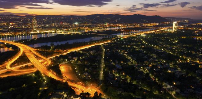 Panorama Wiednia nocą