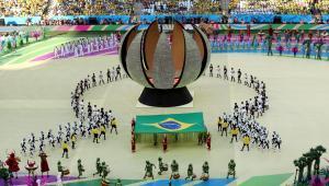 Ceremonia otwiarcia Mundialu 2014. Fot. EPA/MAURICIO DUENAS