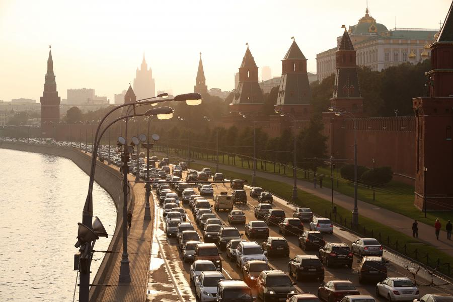 Widok na Kreml, Moskwa, 12.09.2013