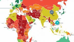 Ocena ryzyka krajów Coface - Europa, Afryka, Azja