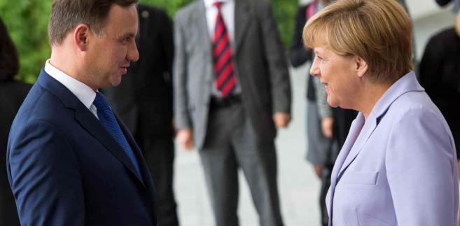 Angela Merkel i Andrzej Duda, EPA/BERND VON JUTRCZENKA Dostawca: PAP/EPA.