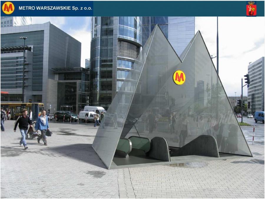 2 linia metra w Warszawie - stacja Rondo ONZ