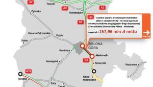 S3 - odcinek Zielona Góra Północ - Niedoradz