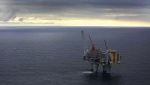 Należąca do norweskiego giganta Statoil platforma wydobywcza Troll A na Morzu Północnym, niedaleko Bergen.