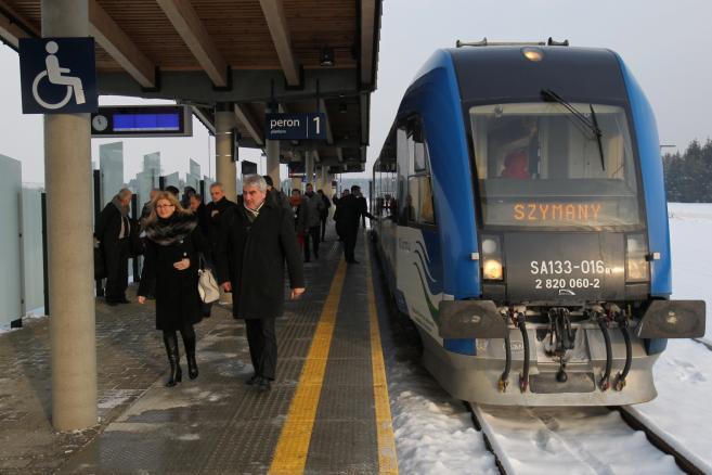 Szymany nowy port lotniczy Olsztyn-Mazury - stacja kolejowa  (zuz) PAP/Tomasz Waszczuk