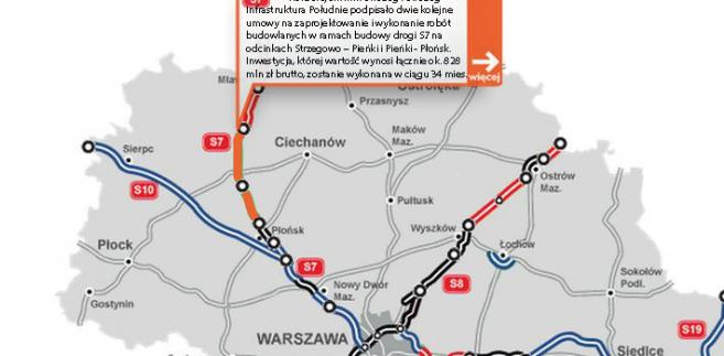 S7 - na odcinkach Strzegowo – Pieńki i Pieńki - Płońsk