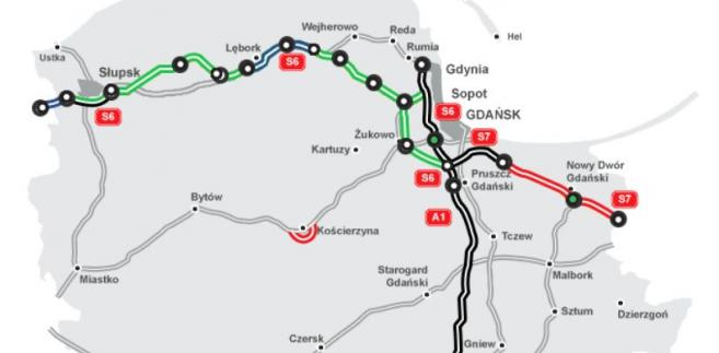 Stan budowy dróg w woj. pomorskim. Źródło: GDDKiA