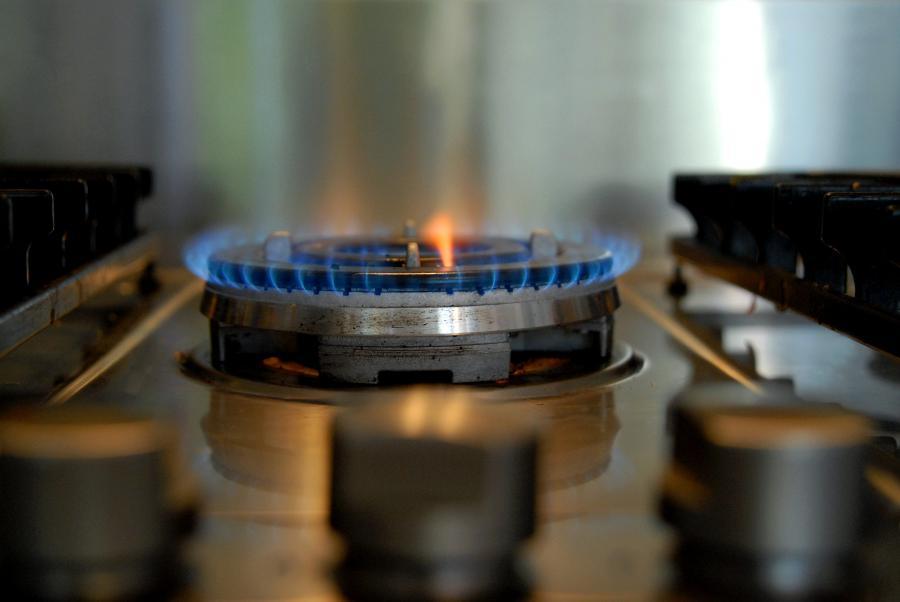 Płomień w kuchence gazowej