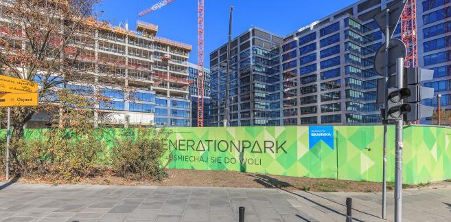 Beton, który walczy ze smogiem, Generation Park Skanska w Warszawie