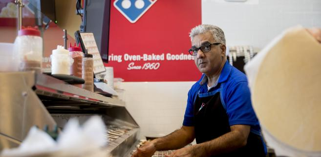 Pracownik Domino's Pizza w USA
