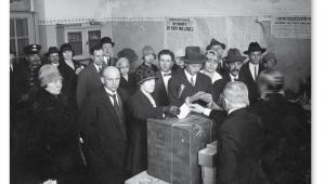 Wybory do rady miejskiej w Warszawie, 1927 r. fot. NAC
