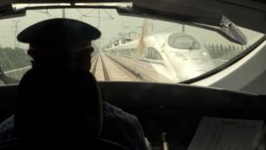 Chińskie szybkie pociągi CRH relacji Szanghaj-Pekin - kabina maszynisty (1)