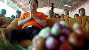 Dhanin Chearavanont, prezes Charoen Pokphand Foods Pcl, największy tajlandzki producent zywności I karmy dla zwierząt, który planuje inwestować 477 mln USD co roku przez kilku najbliższych lat po tym, jak nawiązał współpracę z Chinami i Wietnamem