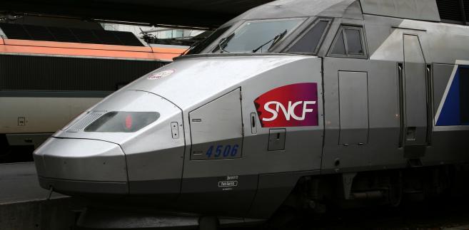 Francuski pociąg dużych prędkości TGV.