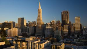 Transamerica Pyramid w San Francisco